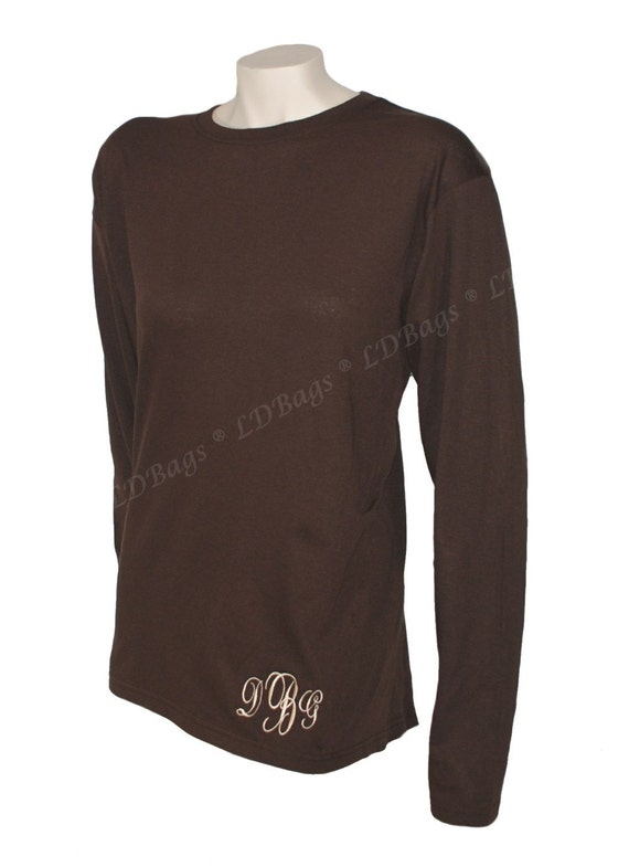 Personalized tee shirt monogram tee shirt long sleeve t for Long sleeve custom t shirts