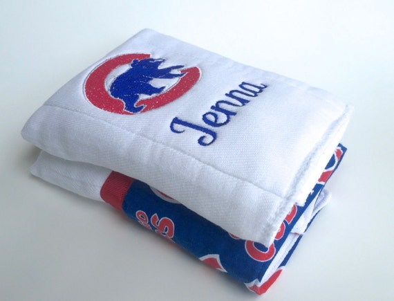 Chicago cubs baseball personalized burp cloths baby burp chicago cubs baseball personalized burp cloths baby burp cloth personalized baby gift negle Images