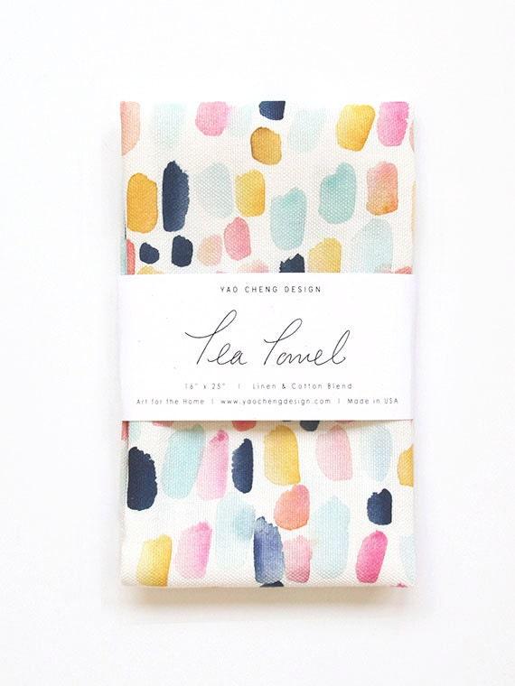 Merriment - Watercolor Tea Towel