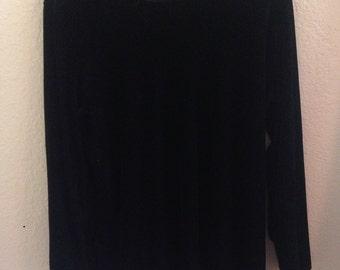 black velvet long sleeve tunic dress