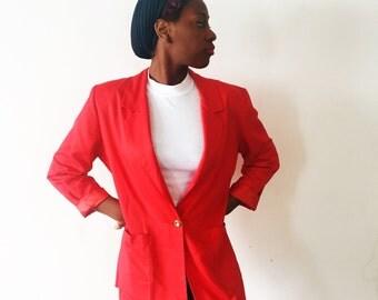 Vintage Rosie Red Blazer
