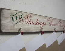 Christmas Stocking Wall Hanger Décor - Stocking Hanger - Holiday Decor - Christmas Decor - Christmas Gift