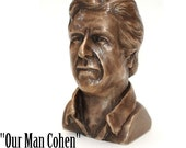 Our Man Cohen, a bronze tribute to Leonard Cohen
