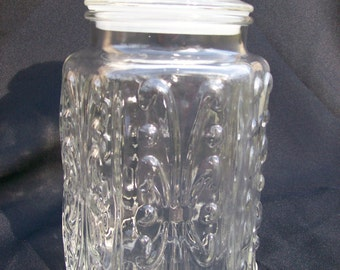 Imperial Glass Atteburry Scroll Cookie Jar Apothecary