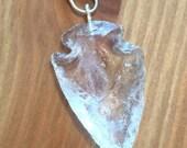 Crystal Arrowhead Pendant