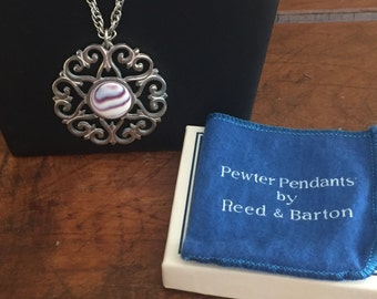 Reed and Barton Pewter Necklace