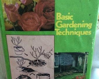 Good housekeeping basic gardening techniques book, vintage gardening book