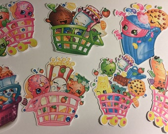Shopkins Group Die Cuts set of 7