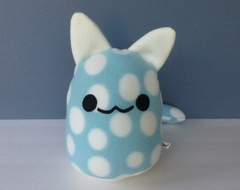 Cat Plush - Gumdrop Kitty: Blue with White Dots
