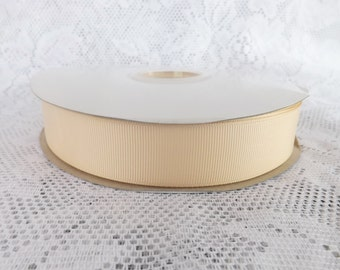 Cream ribbon 1 inch creme grosgrain ribbon Cream polyester 1 inch  ribbon