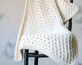Knitted Throw / Baby Blanket / Shawl / Lap Robe Pattern {Instructions to knit} - MAGNANIMITY
