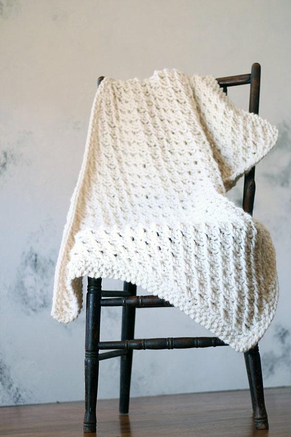 Knitted Throw Baby Blanket Shawl Lap Robe Pattern