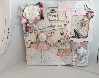 Mixed media Paris themed collage!
