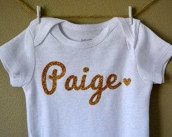Baby onesie, name onesie, name bodysuit, personalized name baby, custom name, handmade bodysuit, Baby girl clothes, Baby shower gift