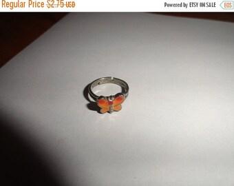 50% OFF Vintage adjustable metal ring Phx estate Butterfly