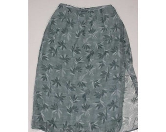 VALENTINES 50% OFF Size 1X, Vintage Maggie McNaughton Polyester Skirt, 36inch waist 36 inch length