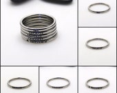 Hand-Stamped Stacking 2mm *Shiny Finish* Stainless Steel Name Ring