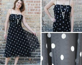 Sheer Polka Dot Dress - Black Polka Dot Dress - Sheer Black Polka Dot Dress - Polka Dot Dress - Black and White Dress - Polka Dot Sun Dress