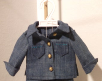Dolls 2 piece denim outfit