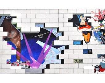 Pink Floyd- The Wall -Graffiti -License Plate