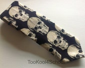 Adult black large Skull tie ready to ship