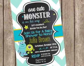 Monsters Inc. Baby Shower Invitation
