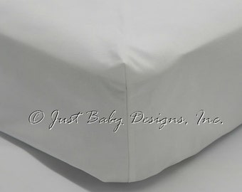 Fitted Crib Sheet - White Solid Cotton