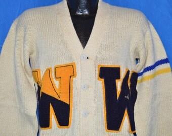 40s Princeton Knitting Mills Varsity Letterman Sweater Medium