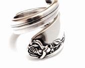 Vintage Spoon Ring  Circa 1955 - Handmade Spoon Jewelry - Silverware Jewelry