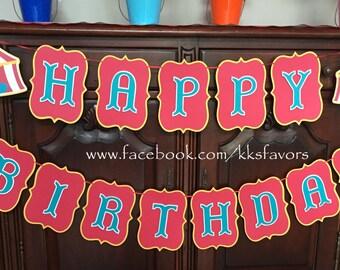 Carnival Circus Birthday Banner