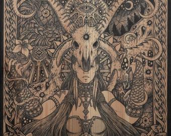Viking art norse fantasy As above so below art print