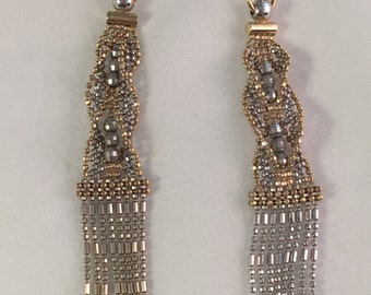 14kt Gold and White Gold Chandelier Earrings