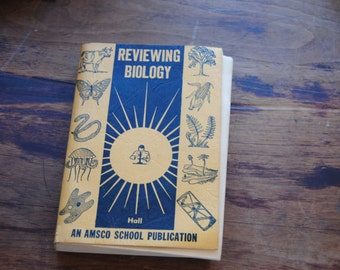 Reviewing Biology 1955 Amsco School Publications/Vintage School Books/Teaching Books