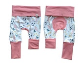 Nature Bloom Maxaloones/Grow With Me Pants, Baby Pants, Toddler Pants, Organic Cotton