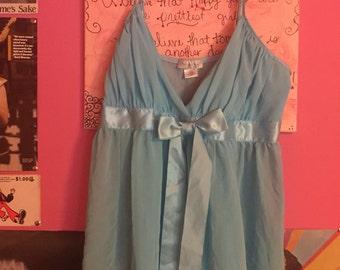 Baby Blue lingerie chemise