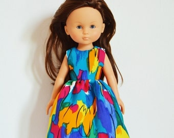 """Handmade Doll Clothes Dress fits 13"""" Corolle Les Cheries or 14"""" H4H G2G Dolls Handcraft 19"""