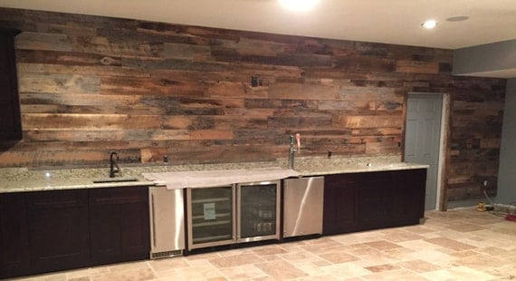 Reclaimed Wood Wall Accent Kits By Famacreations On Etsy