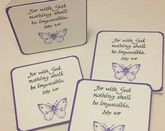 3x3 Mini Notecard Set/Inspirational Card/Inspire/notecards/handmade notecards