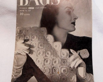 Bags Clark's O. N. T. J.&P. Coats Book No. 219 Patterns, Woolworth's Art Department, c. 1945
