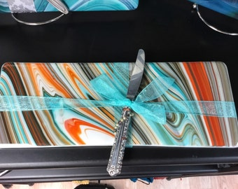 Multi-colored Fused Glass Platter