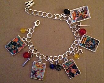 Wonder Woman Charm Bracelet - Handmade, Unique