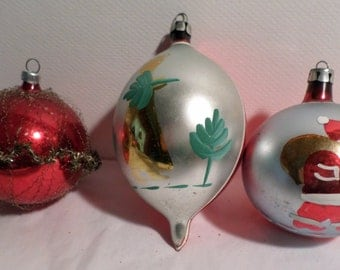 Shiny Brite, fancy, Glass ornaments, 1950s Christmas,Poland, Germany, Christmas Decorations, Christmas ornaments, antique, Glass Decorations