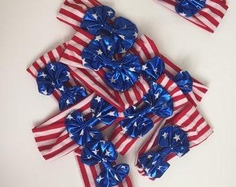 Fourth of july headband bow