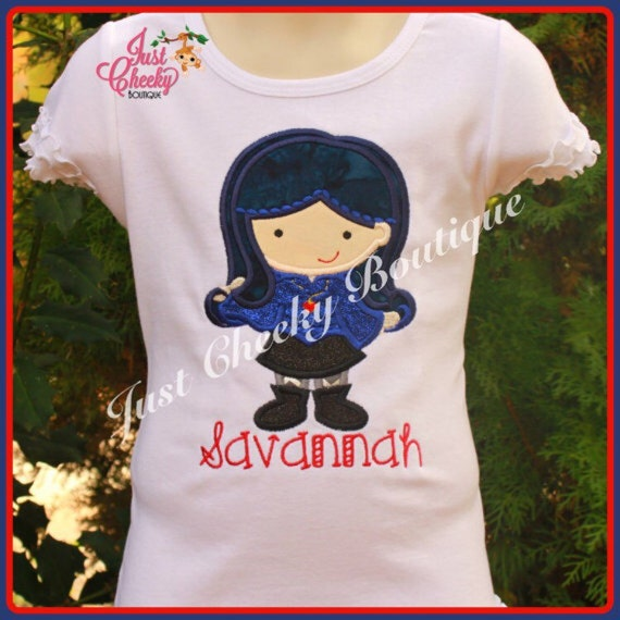 Evie Inspired Embroidered Shirt - Disney Descendants - Disney Birthday - Disney Vacation - 1st Disney Trip - Disney Villains Shirt