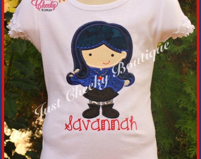 Evie Inspired Embroidered Shirt - Disney Descendants - Disney Birthday - Disney Vacation - 1st Disney Trip - Disney Villains Shirt