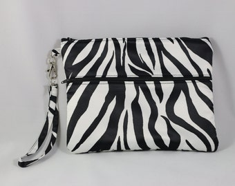 Beautiful satin fabric, zebra print, iPad mini case, ready to ship.