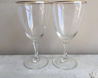 Mcm lenox etsy - Lenox gold rimmed wine glasses ...