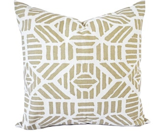 Two Metallic Throw Pillow Covers - Geometric Pillows - Metallic Pillow Cushion Cover - Holiday Pillows - Accent Pillow - Gold Pillow Cover