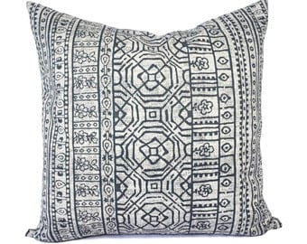 Two Dark Grey Pillow Covers - Grey Throw Pillow Covers - Decorative Pillow - Grey Pillow 16 inch Pillow - 18 inch Pillow - Aztec Pillow