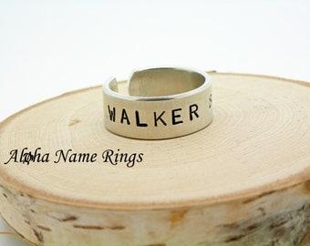 WALKER BAIT - A Zombie Apocalypse fan must have!! Custom Hand Stamped Aluminum Rings.